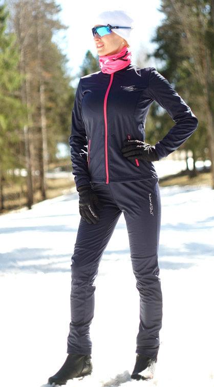 1610aa6ec6feb Детский утеплённый лыжный костюм Nordski Motion BlueBerry-Pink ...