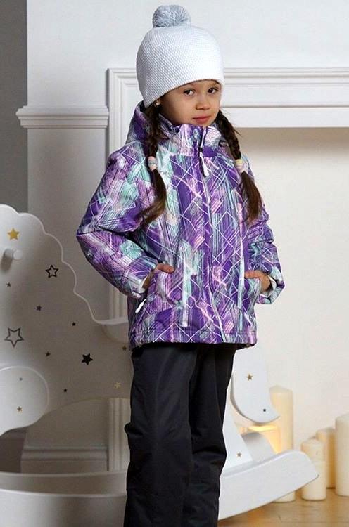 00938e9ba789d Детский утеплённый прогулочный лыжный костюм Nordski City Violet-Mint-Grey